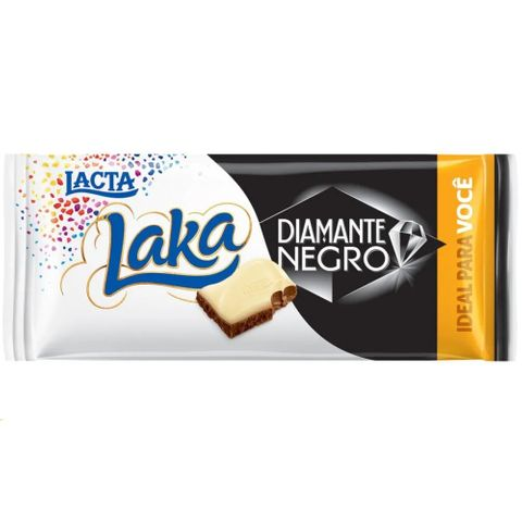 Tablete Chocolate Laka Diamante Negro 90g - Lacta