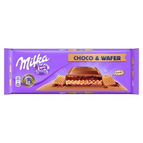 Tablete Chocolate Milka Choco & Wafer 300g - Milka