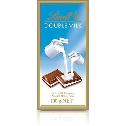Tablete Chocolate Suíço Double Milk 100g - Lindt
