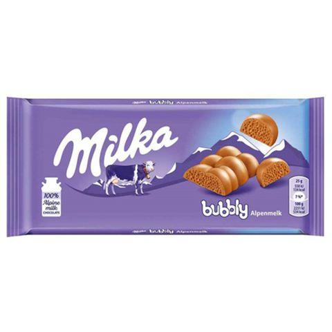 Tablete de Chocolate Aerado Bubbly 90g - Milka