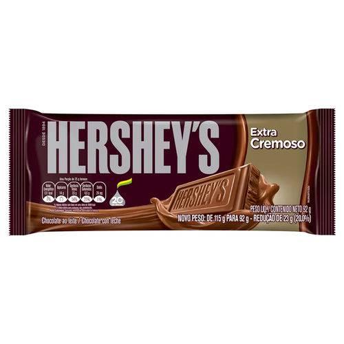 Tablete de Chocolate ao Leite Extra Cremoso 92g - Hersheys