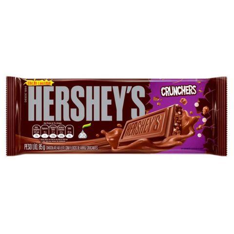 Tablete de Chocolate ao Leite Flocos Crocantes Crunchers 85g - Hersheys