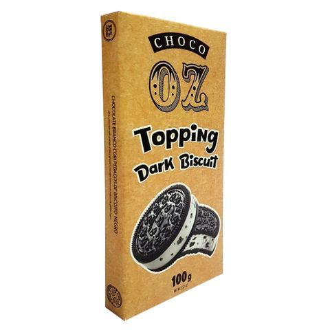 Tablete de Chocolate Branco com Dark Biscuit 100g - Choco Oz