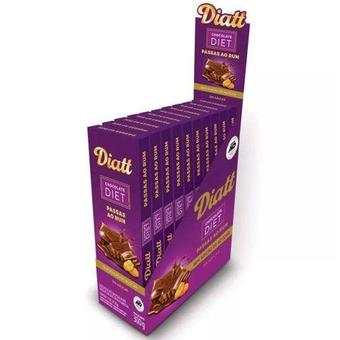 Tablete de Chocolate com Passas ao Rum Diet 25g C/12 - Diatt