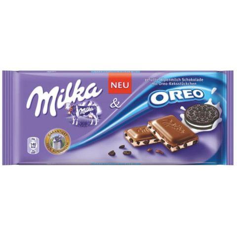 Tablete de Chocolate Oreo Biscoito 100g - Milka