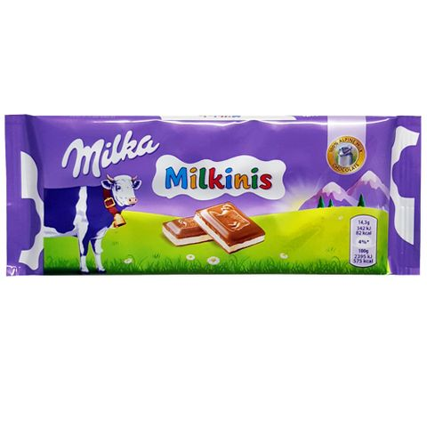 Tablete de Chocolate Recheado Milkinis 100g - Milka