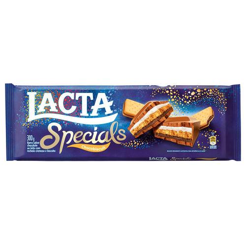 Tablete de Chocolate Specials Chocobiscuit 300g - Lacta
