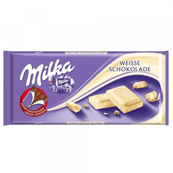 Tablete de Chocolate Weisse Branco 100g - Milka