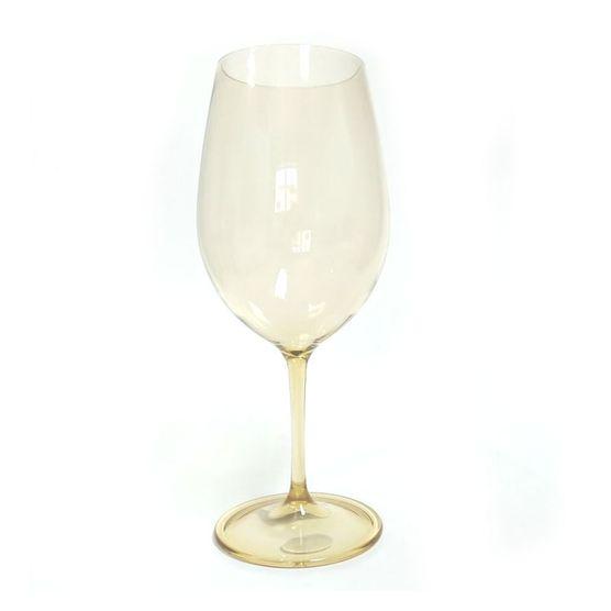 Taça em Acrílico Caramelo para Vinho 23 Cm KY715 600 Ml