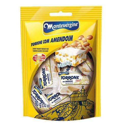 Torrone Amendoim 80g - Montevérgine