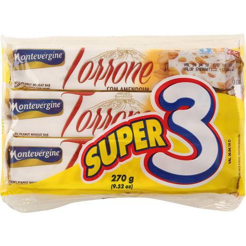 Torrone com Amendoim Super 3 Montevérgine - 270g