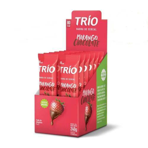 Trio Barra Cereal Tradicional Morango Chocolate C/12