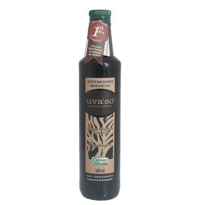 Vinagre Balsamico Orgânico Envelhecido 500ml - Uva só