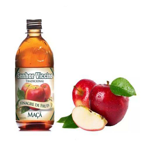 Vinagre de Frutas Maça Senhor Viccino Zero Açucar 500 Ml