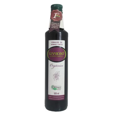 Vinagre de Vinho Tinto Orgânico 500ml - Uva só