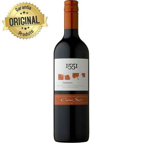 Vinho Chileno 1551 Carménère Tinto Garrafa 750ml - Cono Sur