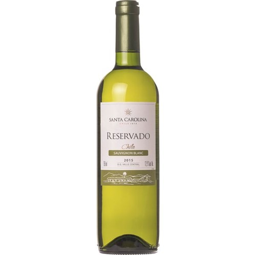 Vinho Chileno S Carolina Reserv 750ml Sauv Blanc