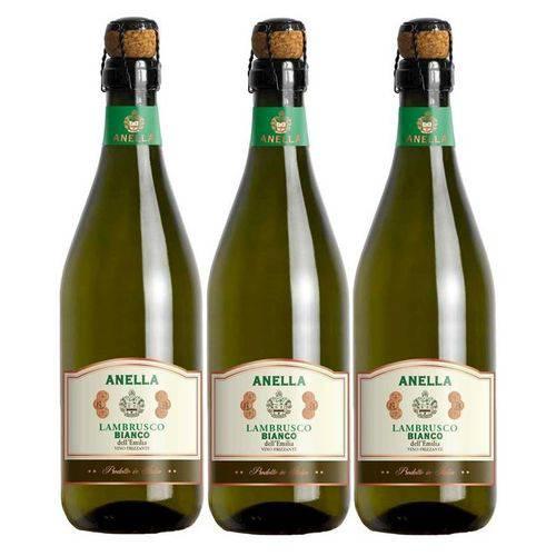 Vinho Frisante Lambrusco Branco Anella 750ml 03 Unidades
