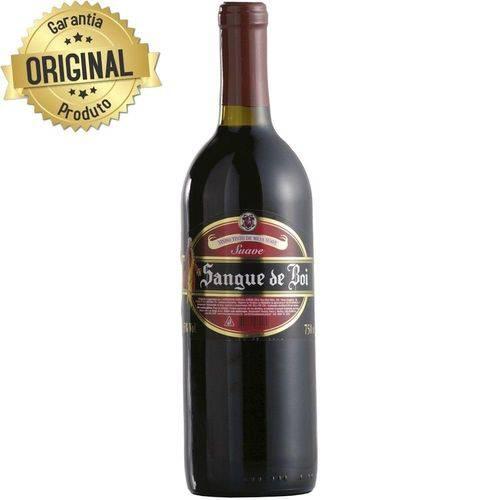 Vinho Brasileiro Sangue Boi 750ml Suave Tinto