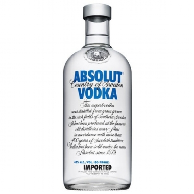 Vodka Absolut Natural 1000ml