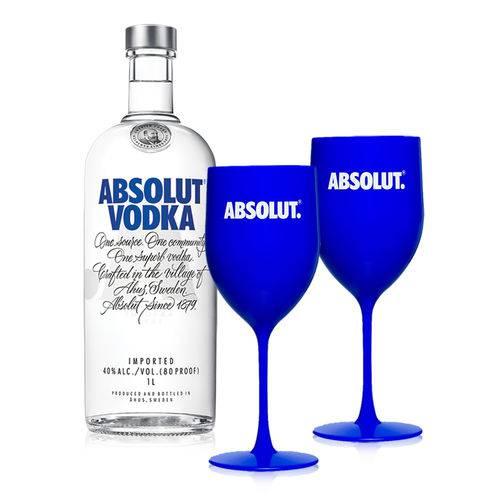 Vodka Absolut Original 1l + Taça