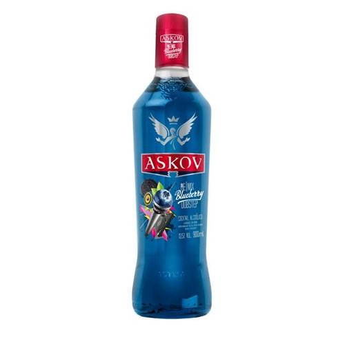 Vodka Askov 900ml Sabores Bluebarry