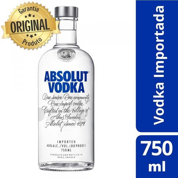 Vodka Importada Absolut Natural - 750ml
