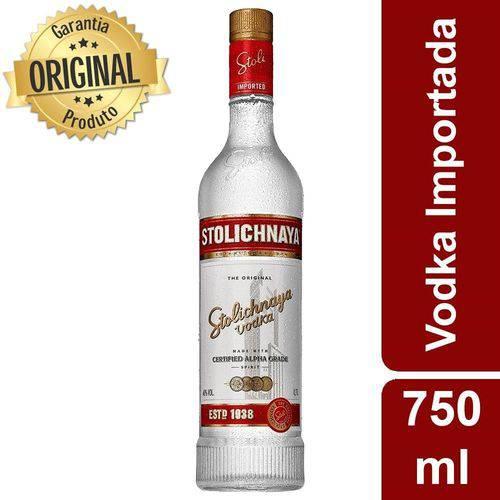 Vodka Russa Premium Letonia Garrafa 750ml - Stolichnaya