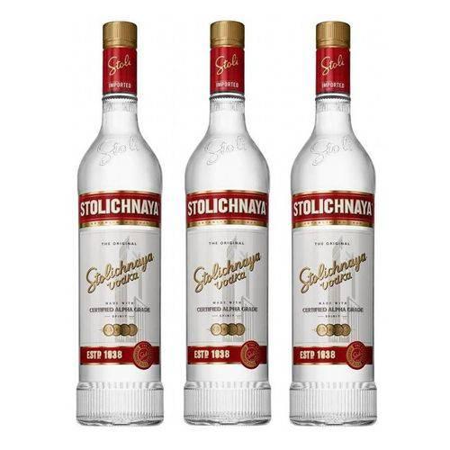 Vodka Stolichnaya 750ml 03 Unidades