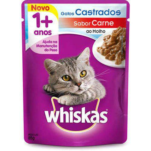 Whiskas Sachê Adulto Castrado 85g