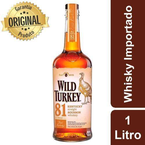 Whisky Americano Garrafa 1 Litro - Wild Turkey