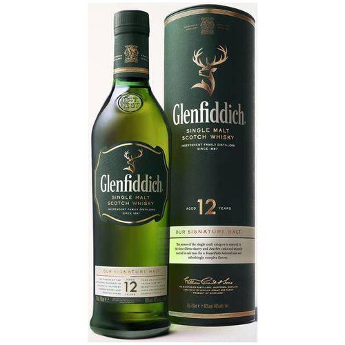 Whisky Glenfiddich 12 Anos 750ml com Cartucho