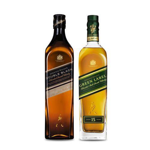 Whisky Jw Green Label 750ml+Whisky Jw Double Black Label 1000ml - 750ml
