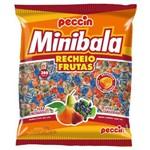 Bala Minibala Recheio Frutas 540g