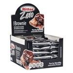 Barra Cereal Brownie Chocolate Zero Açúcar 25g 24un Ritter