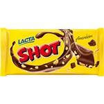 Barra de Chocolate Shot ao Leite com Amendoins Lacta 155g - 1 Unidade