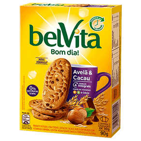 Biscoito BelVita Bom Dia! Avelã e Cacau 90g (3x30g)