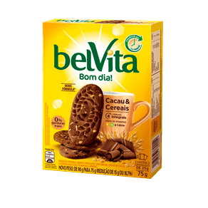 Biscoito BelVita Bom Dia! Cacau e Cereais 90g (3x30g)