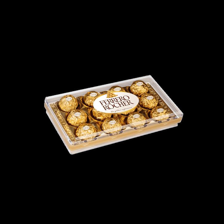 Ficha técnica e caractérísticas do produto Bombón Ferrero Rocher, T-12, 150 G