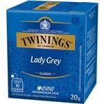 Chá Twinings Of London Chá Preto Lady Grey Caixa com 10 Sachês