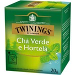 Chá Twinings Of London Chá Verde e Hortelã Caixa com 10 Saches
