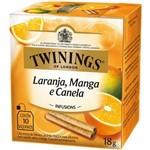 Chá Twinings Of London Laranja, Manga e Canela Caixa com 10 Sachês