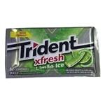 Chiclete Trident Fresh Limão Ice 8gr C/21 -Adams