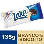Ficha técnica e caractérísticas do produto Chocolate Laka Branco Oreo 135g