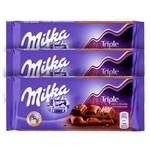 Chocolate Milka Triple Choco Kakao 90g - Kit com 03 Unidades