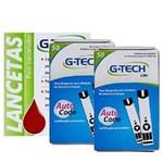 Ficha técnica e caractérísticas do produto Combo 100 Tiras Lite Mais 100 Lancetas G-Tech