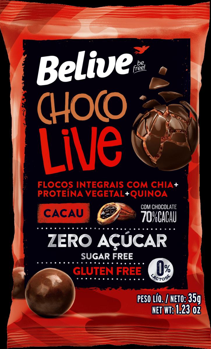 Drageado Chocolive Cacau 35g - Belive