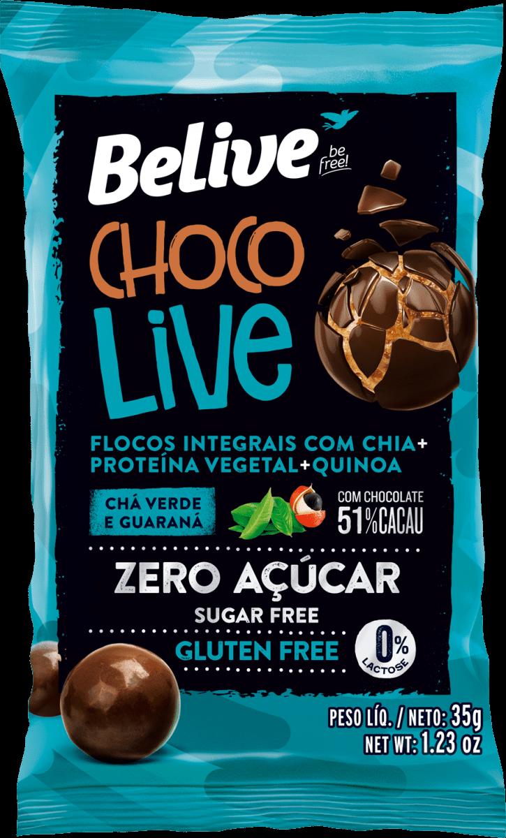 Drageado Chocolive Chá Verde e Guaraná