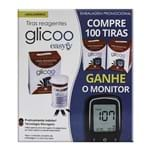 Glicoo Easyfy Tira Teste com 100 Unidades + Grátis Glicoo Easyfy Kit Monitor de Glicemia