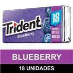 Goma de Mascar Trident Blueberry com 18 Unidades
